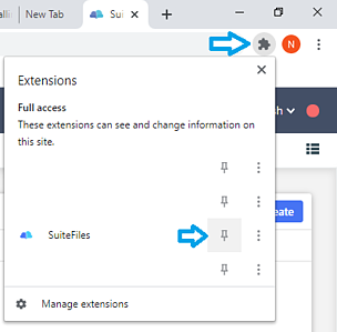 chrome ext pinning to Chrome