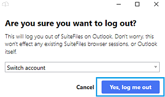 logging out of outlook 2