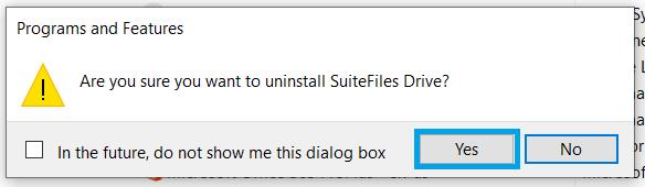 uninstall a program3